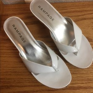 Rampage White Sandals. Size 8